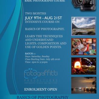 PHASE I - Basic Photography Course